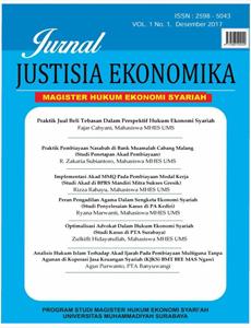 Jurnal Justisia Ekonomika